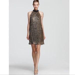Laundry by Shelli Segal Gold Metallic Dress